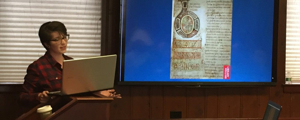 PhD Student M. Breann Leake presents at Medieval Outreach 2015