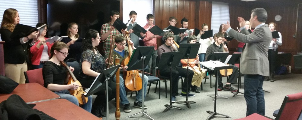 Eric Rice's Collegium Musicum performs at Medieval Outreach 2015