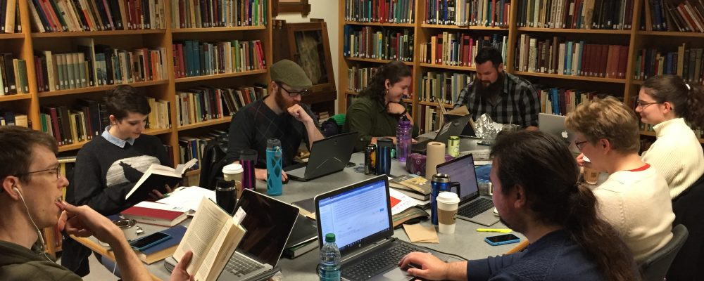 Graduate Students in the Medieval Studies Library